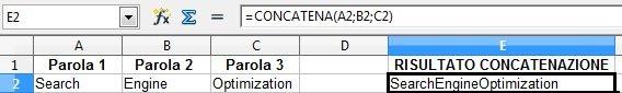 Concatena - OO Calc